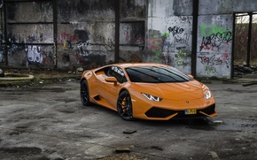 Picture Lamborghini, Orange, Huracan, LP610-4