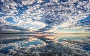 Picture reflection, morning, morning, Texas, reflection, clouds in the mirror, clouds in the mirror, Grapevine lake, …