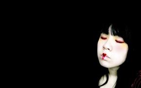 Wallpaper girl, reverie, China
