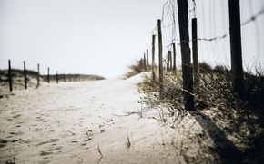 Picture sand, beach, background, the fence