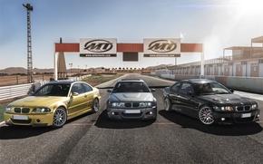 Picture BMW, gold, black, grey, E46