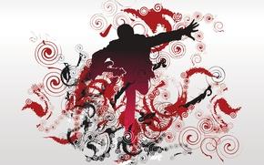 Wallpaper people, pattern, Vector, curls, music