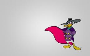 Picture purple, minimalism, Drake, Darkwing Duck, black cloak