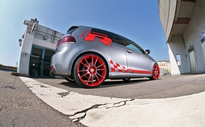 Wallpaper Sport-Wheels, VW Golf, rear