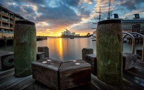 Picture dawn, Australia, Sydney, architecture