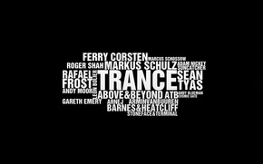 Picture music, Wallpaper, minimalism, TRANS, wallpapers, Top Trance Djs