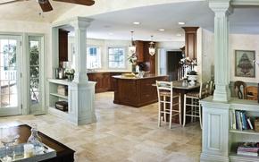 Picture design, style, Villa, interior, kitchen, dining room