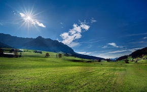 Picture mountains, Austria, Alps, meadow, Austria, Alps