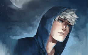 Picture the moon, art, guy, Rise of the Guardians, Rise of the guardians, Jack Frost, Jack …