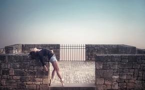 Picture girl, pose, ballerina