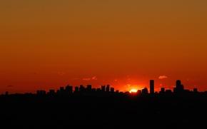 Picture city, sunset, dallas
