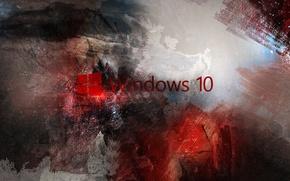 Picture windows, red, microsoft, computer, hi-tech, Wallpaper, operating system, Windows, Microsoft, logo, logo