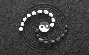 Picture b/W, symbol, Yin-Yang