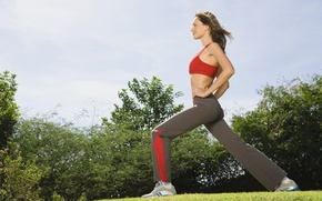 Picture stretching, sportswear, physical activity outdoors, warm-up