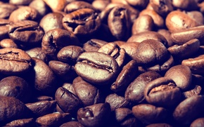 Picture macro, coffee, coffee beans