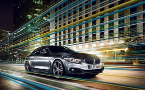 Picture BMW, House, Grey, Asphalt, BMW, 4 Series