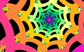 Picture pattern, color, the tunnel, the volume