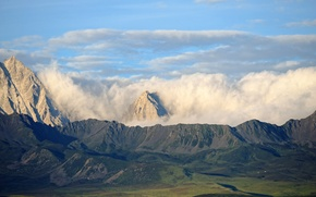 Picture clouds, mountains, Tibet, Heat Lace