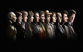 Picture look, face, profile, the series, black background, actors, Doctor Who, men, Doctor Who, look, BBC