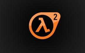 Wallpaper Logo, Valve, Half-Life 2, Game, Lambda, Half-Life, orange, lambda, logo
