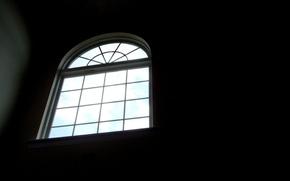 Picture window, black