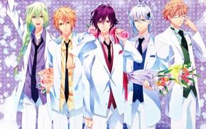 Picture bouquet, glasses, costume, tie, braid, kent, amnesia, shin, amnesia, ikki, toma, five, ukyo, by mai …