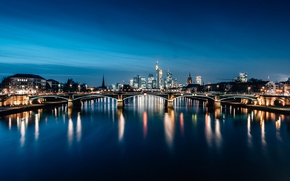 Picture Frankfurt, Germany, blue hour