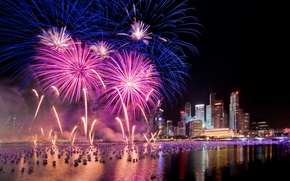 Wallpaper salute, Singapore, fireworks, New Year, Singapore, Fireworks