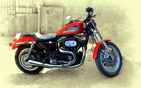 Picture background, motorcycle, Harley Davidson 883