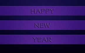 Picture purple, the inscription, new year, happy new year, dark blue background, three stripes