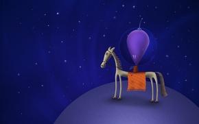 Picture Horse, Stars, Planet, Space, Vladstudio, Alien