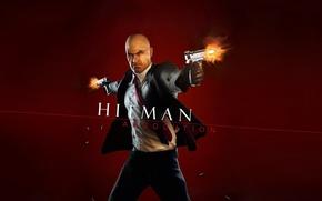 Picture The game, Gun, Blood, Silver baller, Stealth-action, Agent 47, Burgundy, Hitman, Hitman 5, Hitman Absolution, …