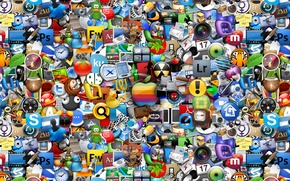 Picture logo, a lot, icons, all, all, logos