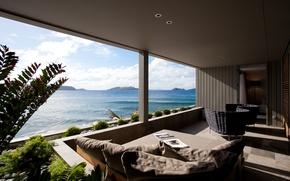Picture ocean, view, terrace, suite, Dominique, Debay Hotel