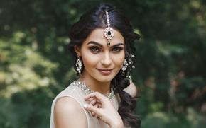 Picture girl, woman, asian, portrait, Indian, makeup, indian brunette