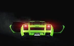 Picture Lamborghini, Gallardo, Green, Yoda, 2005, Supercar, Project, Rear, 1250HP