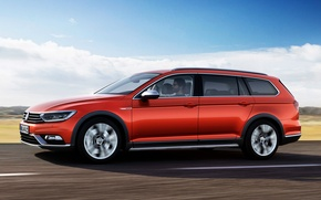 Picture Volkswagen, Profile, Volkswagen, Passat, Passat, 2015, Alltrack