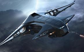 Picture flight, zipper, speed, spaceship