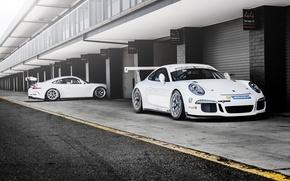 Picture Porsche, Car, Racing, GT3, White, Cup, 991, Carports, Launch