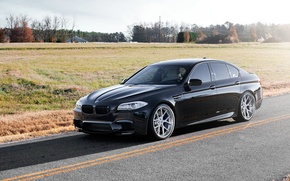 Picture field, black, BMW, shadow, BMW, black, side view, f10