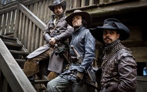 Picture The series, Aramis, Athos, Porthos, The Musketeers, Athos, The Musketeers, Tom Burke, Howard Charles, Santiago ...