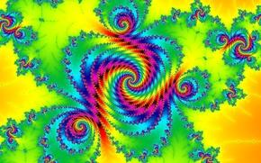 Wallpaper light, pattern, color, spiral, fractal