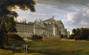 Picture landscape, picture, Jan Brueghel the elder, The Royal Palace of Tervuren, in Brussels