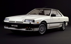 Picture Machine, White, Nissan, Japan, Nissan, Car, Car, Skyline, Old, Japanese, 2000 Turbo, 1983–85, RS-X
