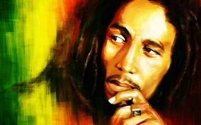 Wallpaper look, figure, Bob Marley