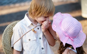 Wallpaper children, child, romance, childhood, child, love, gentle boy, Valentine, childhood, children, love, romance, Valentine, kiss, ...