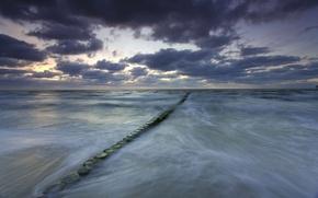 Picture sea, clouds, Germany, Mecklenburg-Vorpommern