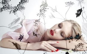Picture girl, pose, background, Sofia Mechetner