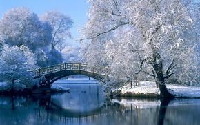 Wallpaper bridge, Germany, winter