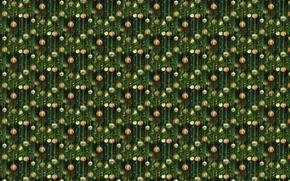 Wallpaper New year, art, background, texture, holiday, herringbone, Christmas balls